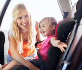 Safety instructions while driving with children